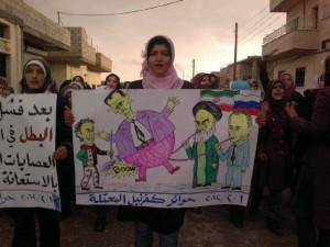 Syrians express their anger at the Iranian and Russian crooks (photos)