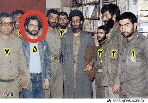 Ali Reza Sheikh Attar as a Basij and Revolutionary Guards Corps member poses in a picture with the current regime leader, Khamenie as he visited the Kurdish areas of Iran twice in 1981 as the special envoy of then Khomeini, his predecessor.