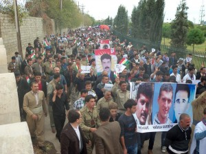 Video: Protest against executions of Kurdish political prisoners in Iran, Erbil 2013 11 08