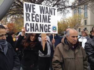 Kurds, Iranian of all nationalities protested in front of the state department to condemn the executions in Iran and lack of US condemnation as well, November 12, 2013