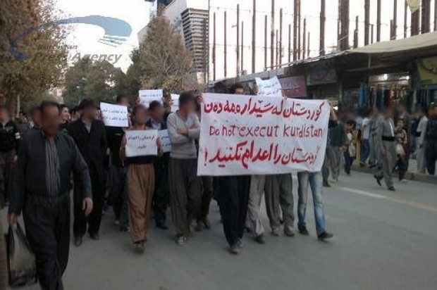 Large demonstration in Iran's Mariwan against execution of Kurdish political prisoners