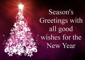 Season's Greatings with all good wishes for the New Year