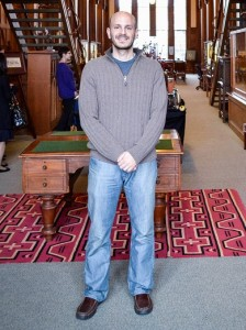 Fady Joudah in the University of Oklahoma's Western History Collection's reading room.Credit Laura Hernandez / World Literature Today