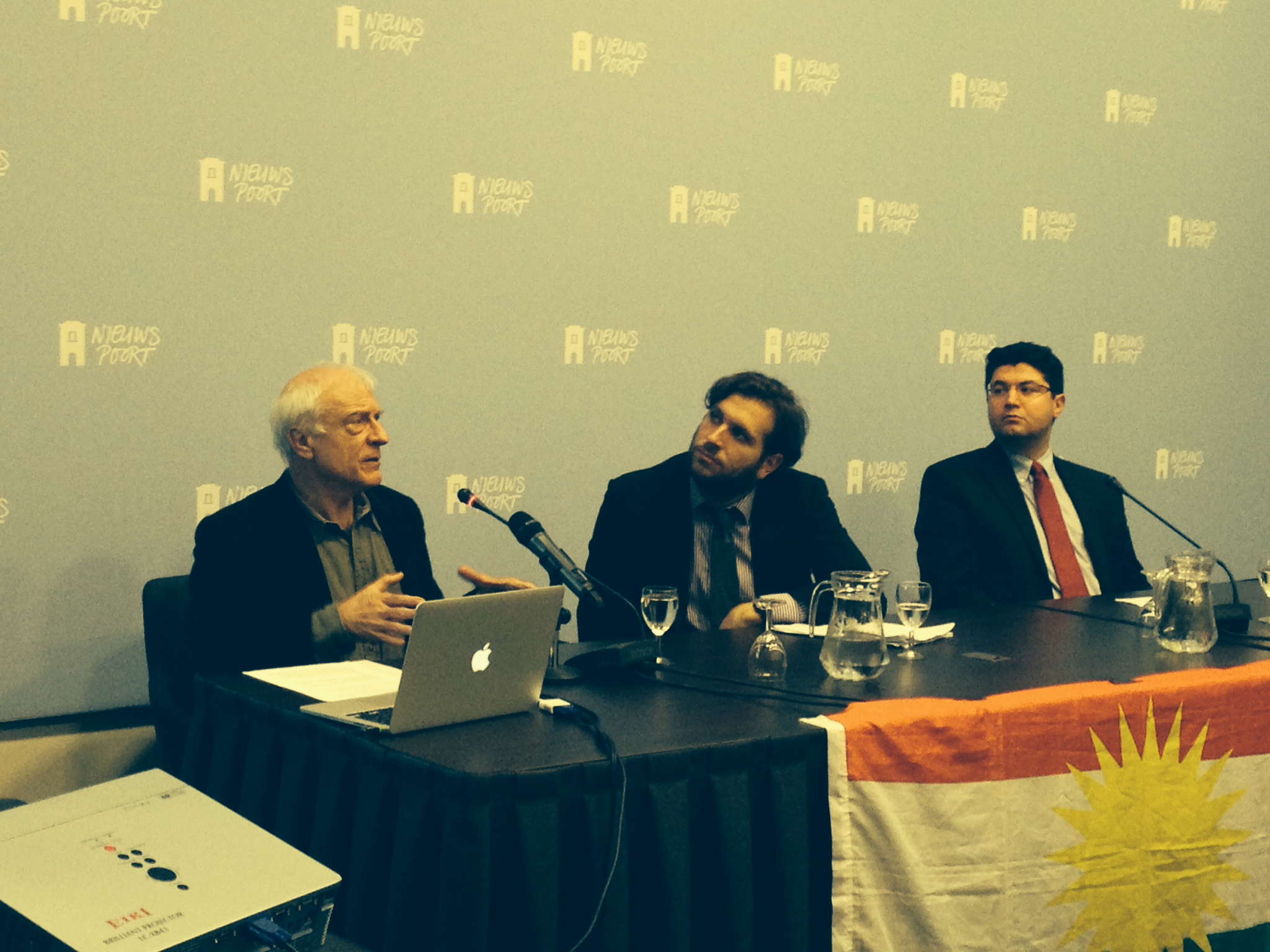 From left: Martin van Bruinessen, Professor of Comparative Studies of Contemporary Islamic Societies at the University of Utrecht (The Netherlands), UNPO Program Manager Johanna Green and Loghman Ahmedi, representative of Iranian Kurdistan to UNPO and head of foreign relations of the Democratic Party of Iranian Kurdistan (PDKI)
